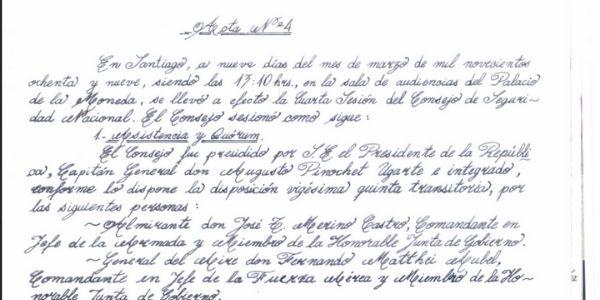 ACTA Nº 4 CONSEJO DE SEGURIDAD NACIONAL