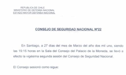 ACTA Nº22 CONSEJO DE SEGURIDAD NACIONAL