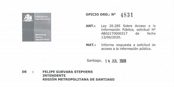 """<h1 class=""""blogtitle"""">OFICIO ORD. N°4831, INTENDENCIA REGIÓN METROPOLITANA</h1>"""