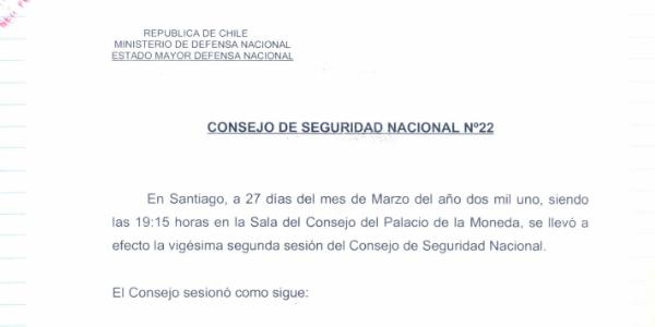"""<h1 class=""""blogtitle"""">ACTA Nº22 CONSEJO DE SEGURIDAD NACIONAL</h1>"""