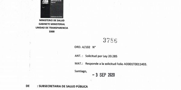 ORD. A/102 Nº3786, SUBSECRETARÍA DE SALUD PÚBLICA
