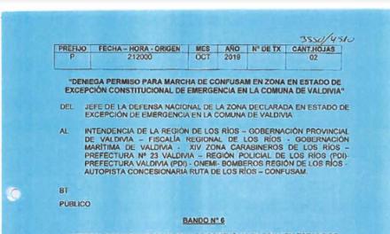 "<h1 class=""blogtitle"">BANDO N°6, JEFATURA DE LA DEFENSA NACIONAL DE VALDIVIA</h1>"