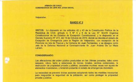 "<h1 class=""blogtitle"">BANDO N°2, JEFATURA DE LA DEFENSA NACIONAL DE VALPARAÍSO</h1>"