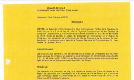 "<h1 class=""blogtitle"">BANDO N°4, JEFATURA DE LA DEFENSA NACIONAL DE VALPARAÍSO</h1>"