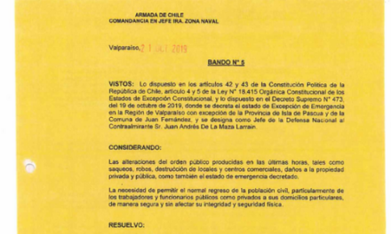 "<h1 class=""blogtitle"">BANDO N°5, JEFATURA DE LA DEFENSA NACIONAL DE VALPARAÍSO</h1>"