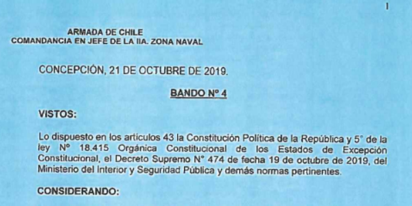 BANDO Nº4, JEFATURA DE LA DEFENSA NACIONAL DE CONCEPCIÓN