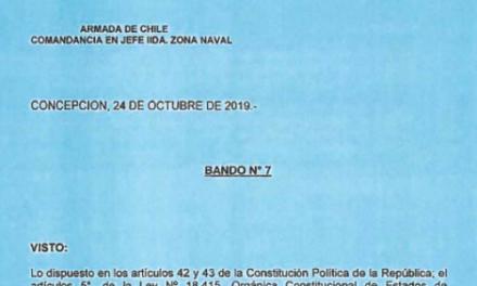 BANDO Nº7, JEFATURA DE LA DEFENSA NACIONAL DE CONCEPCIÓN