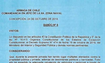BANDO Nº8, JEFATURA DE LA DEFENSA NACIONAL DE CONCEPCIÓN