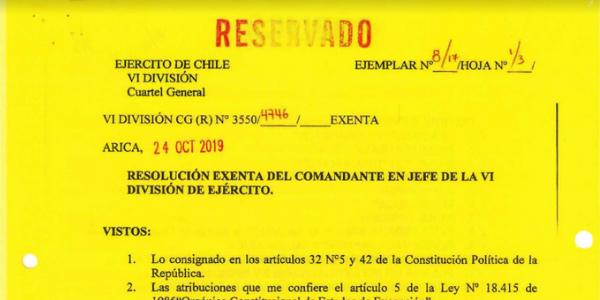 """<h1 class=""""blogtitle"""">(R) Nº3550/4746 EXENTA, JEFATURA DE LA DEFENSA NACIONAL DE ARICA</h1>"""