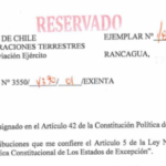 RESOLUCIÓN EXENTA Nº1, JEFATURA DE LA DEFENSA NACIONAL DE RANCAGUA