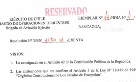 """<h1 class=""""blogtitle"""">RESOLUCIÓN EXENTA Nº1, JEFATURA DE LA DEFENSA NACIONAL DE RANCAGUA</h1>"""