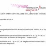 RESOLUCIÓN EXENTA Nº1, JEFATURA DE LA DEFENSA NACIONAL DE TALCA