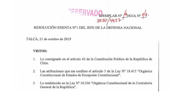 "<h1 class=""blogtitle"">RESOLUCIÓN EXENTA Nº1, JEFATURA DE LA DEFENSA NACIONAL DE TALCA</h1>"