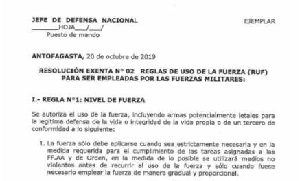 RESOLUCIÓN EXENTA Nº2, JEFATURA DE LA DEFENSA NACIONAL DE ANTOFAGASTA
