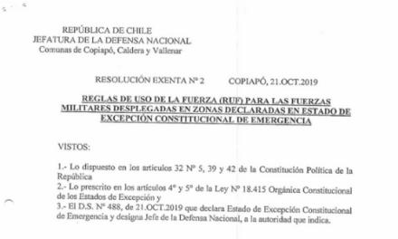 RESOLUCIÓN EXENTA Nº2, JEFATURA DE LA DEFENSA DE COPIAPÓ, CALDERA & VALLENAR