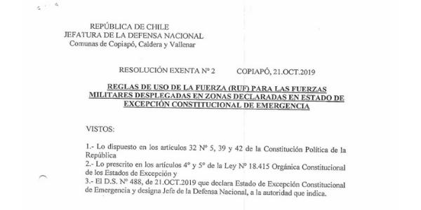 """<h1 class=""""blogtitle"""">RESOLUCIÓN EXENTA Nº2, JEFATURA DE LA DEFENSA DE COPIAPÓ, CALDERA & VALLENAR</h1>"""