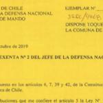 RESOLUCIÓN EXENTA Nº2, JEFATURA DE LA DEFENSA NACIONAL DE TALCA