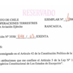RESOLUCIÓN EXENTA Nº3, JEFATURA DE LA DEFENSA NACIONAL DE RANCAGUA