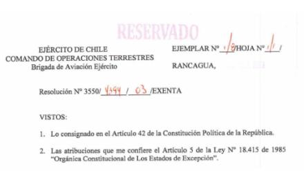 """<h1 class=""""blogtitle"""">RESOLUCIÓN EXENTA Nº3, JEFATURA DE LA DEFENSA NACIONAL DE RANCAGUA</h1>"""