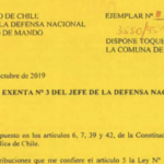 RESOLUCIÓN EXENTA Nº3, JEFATURA DE LA DEFENSA NACIONAL DE TALCA