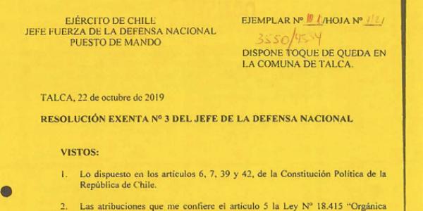 "<h1 class=""blogtitle"">RESOLUCIÓN EXENTA Nº3, JEFATURA DE LA DEFENSA NACIONAL DE TALCA</h1>"