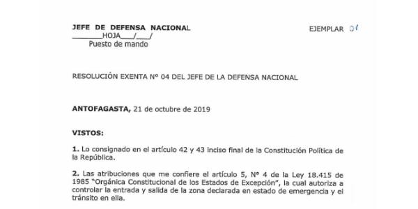"""<h1 class=""""blogtitle"""">RESOLUCIÓN EXENTA Nº4, JEFATURA DE LA DEFENSA NACIONAL DE ANTOFAGASTA</h1>"""