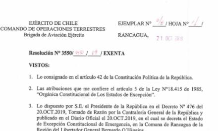 """<h1 class=""""blogtitle"""">RESOLUCIÓN EXENTA Nº4, JEFATURA DE LA DEFENSA NACIONAL DE RANCAGUA</h1>"""