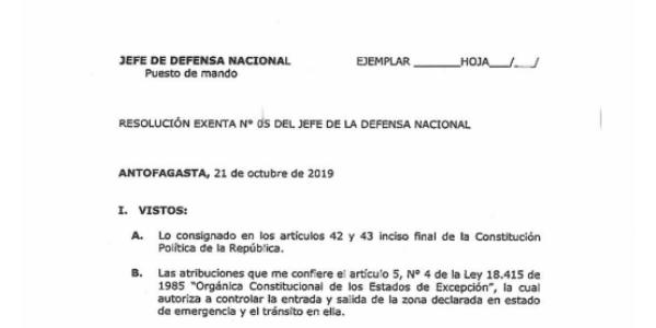 """<h1 class=""""blogtitle"""">RESOLUCIÓN EXENTA Nº5, JEFATURA DE LA DEFENSA NACIONAL DE ANTOFAGASTA</h1>"""