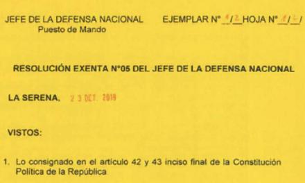 """<h1 class=""""blogtitle"""">RESOLUCIÓN EXENTA Nº5, JEFATURA DE LA DEFENSA NACIONAL DE COQUIMBO & LA SERENA</h1>"""