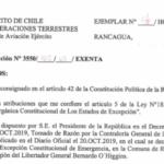 RESOLUCIÓN EXENTA Nº5, JEFATURA DE LA DEFENSA NACIONAL DE RANCAGUA