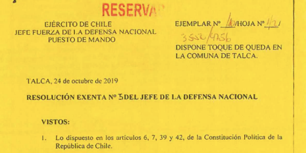 "<h1 class=""blogtitle"">RESOLUCIÓN EXENTA Nº5, JEFATURA DE LA DEFENSA NACIONAL DE TALCA</h1>"