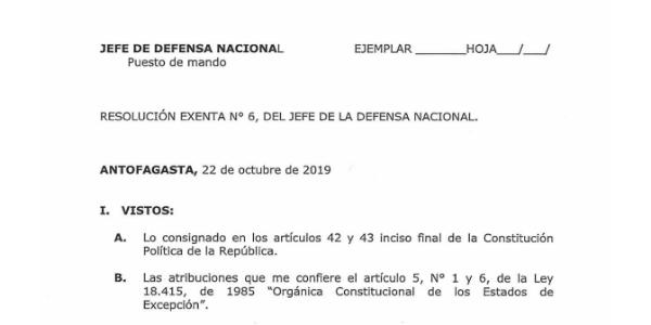 """<h1 class=""""blogtitle"""">RESOLUCIÓN EXENTA Nº6, JEFATURA DE LA DEFENSA NACIONAL DE ANTOFAGASTA</h1>"""