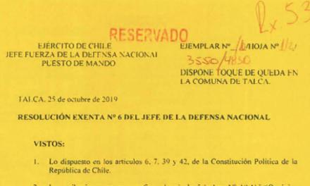 RESOLUCIÓN EXENTA Nº6, JEFATURA DE LA DEFENSA NACIONAL DE TALCA