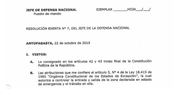 """<h1 class=""""blogtitle"""">RESOLUCIÓN EXENTA Nº7, JEFATURA DE LA DEFENSA NACIONAL DE ANTOFAGASTA</h1>"""