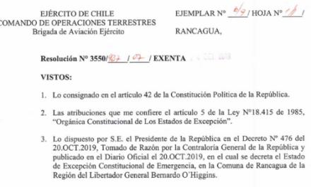 """<h1 class=""""blogtitle"""">RESOLUCIÓN EXENTA Nº7, JEFATURA DE LA DEFENSA NACIONAL DE RANCAGUA</h1>"""