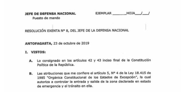 """<h1 class=""""blogtitle"""">RESOLUCIÓN EXENTA Nº8, JEFATURA DE LA DEFENSA NACIONAL DE ANTOFAGASTA</h1>"""