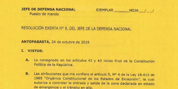 """<h1 class=""""blogtitle"""">RESOLUCIÓN EXENTA Nº9, JEFATURA DE LA DEFENSA NACIONAL DE ANTOFAGASTA</h1>"""