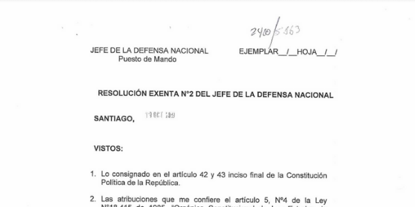 "<h1 class=""blogtitle"">RESOLUCIÓN EXENTA N°2, JEFATURA DE LA DEFENSA NACIONAL DE SANTIAGO</h1>"
