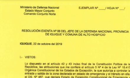 """<h1 class=""""blogtitle"""">RESOLUCIÓN EXENTA Nº6, JEFATURA DE LA DEFENSA NACIONAL DE IQUIQUE Y ALTO HOSPICIO</h1>"""