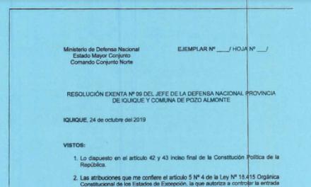 """<h1 class=""""blogtitle"""">RESOLUCIÓN EXENTA Nº9, JEFATURA DE LA DEFENSA NACIONAL DE IQUIQUE Y ALTO HOSPICIO</h1>"""