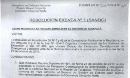 """<h1 class=""""blogtitle"""">RESOLUCIÓN EXENTA Nº1, JEFATURA DE LA DEFENSA NACIONAL DE IQUIQUE Y ALTO HOSPICIO</h1>"""