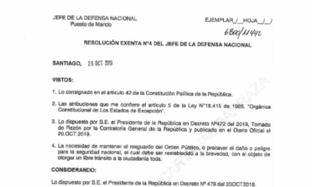 RESOLUCIÓN EXENTA N°4.2, JEFATURA DE LA DEFENSA NACIONAL DE SANTIAGO