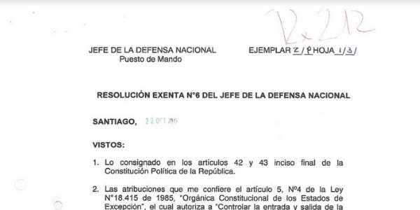 "<h1 class=""blogtitle"">RESOLUCIÓN EXENTA N°6, JEFATURA DE LA DEFENSA NACIONAL DE SANTIAGO</h1>"