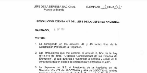 "<h1 class=""blogtitle"">RESOLUCIÓN EXENTA N°7, JEFATURA DE LA DEFENSA NACIONAL DE SANTIAGO</h1>"