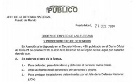 """<h1 class=""""blogtitle"""">REGLAS DE USO DE LA FUERZA, JEFATURA DE LA DEFENSA NACIONAL PUERTO MONTT & OSORNO</h1>"""