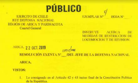 RS. EXENTA N°13.925/1088, JEFATURA DE LA DEFENSA NACIONAL DE ARICA