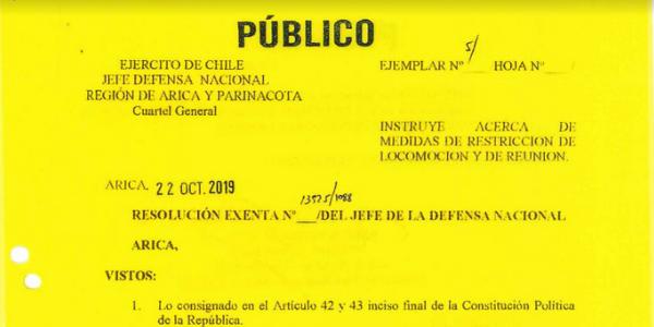 """<h1 class=""""blogtitle"""">RS. EXENTA N°13.925/1088, JEFATURA DE LA DEFENSA NACIONAL DE ARICA</h1>"""