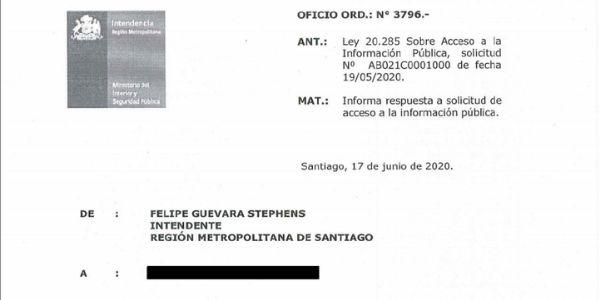 ¿CÁMARAS CON RECONOCIMIENTO FACIAL EN SANTIAGO? – INTENDENCIA METROPOLITANA