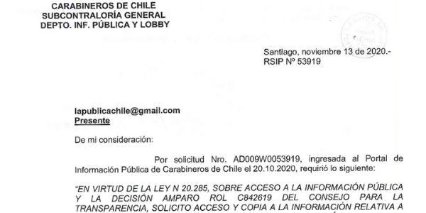 RSIP Nº53919, CARABINEROS DE CHILE